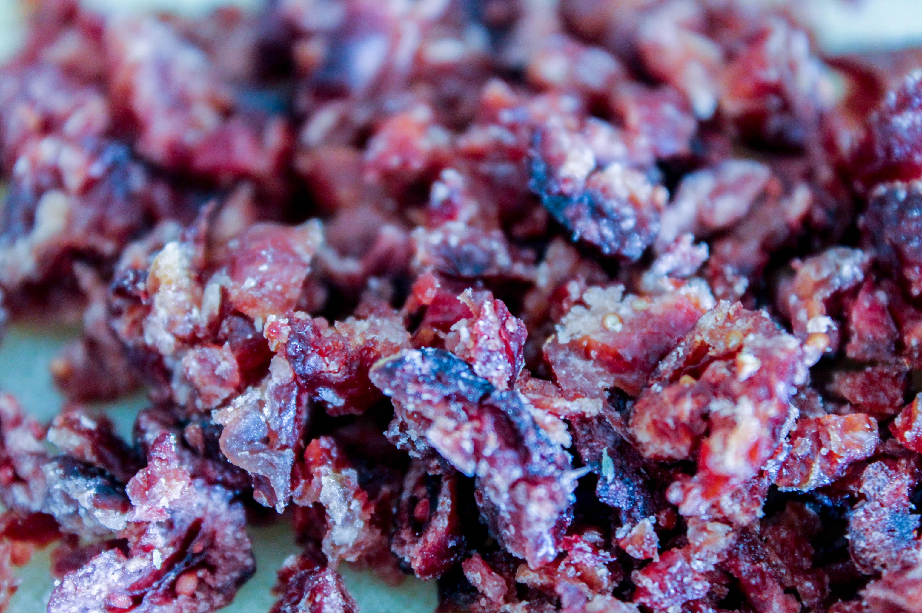 Sablés chocolat blanc cranberries