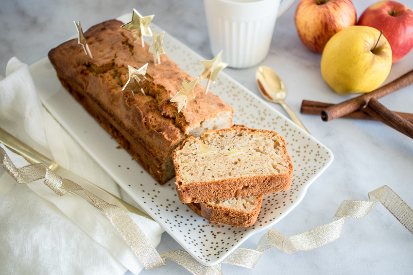cake moelleux à la pomme et à la cannelle