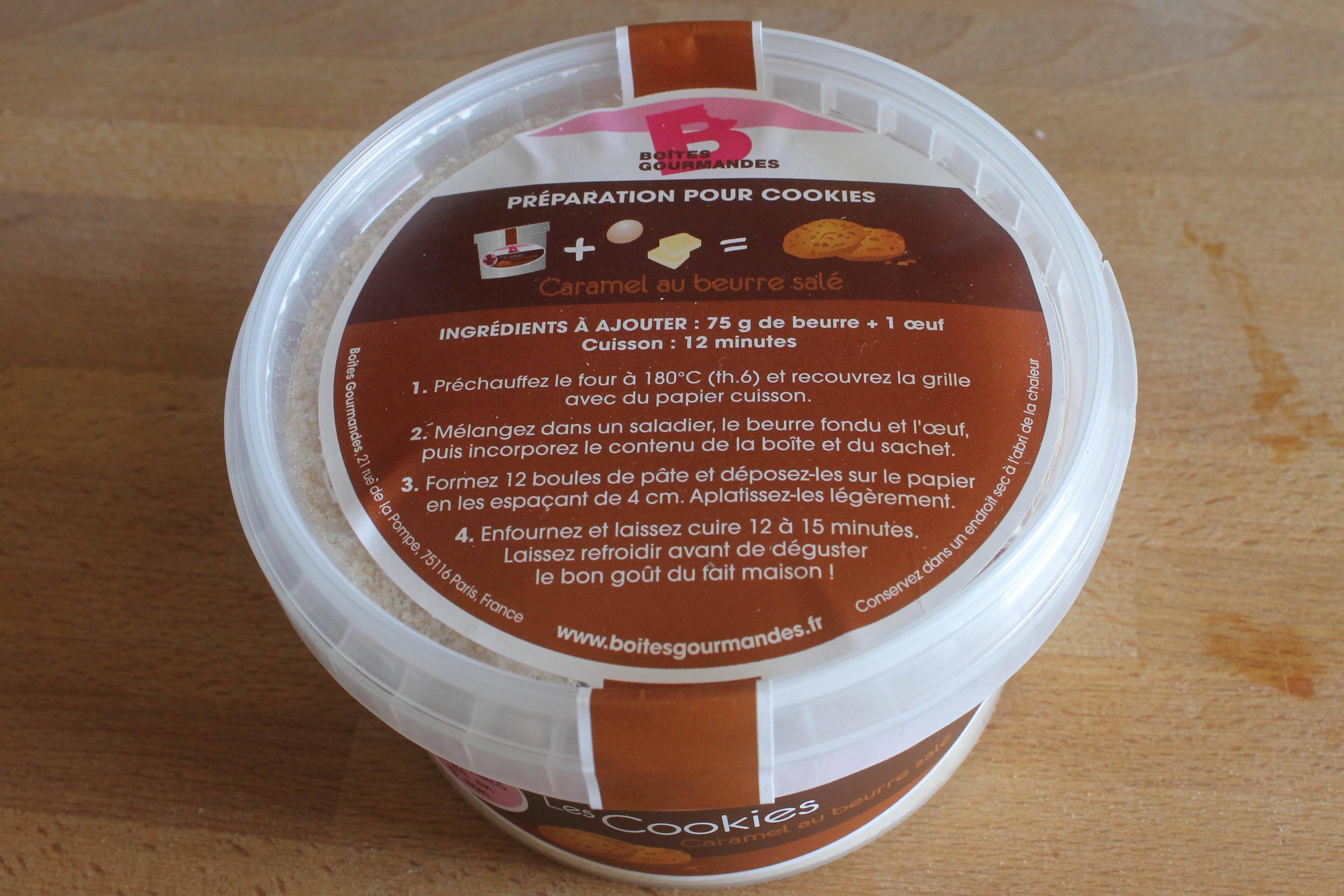 Boîte gourmande : cookies caramel au beurre salé