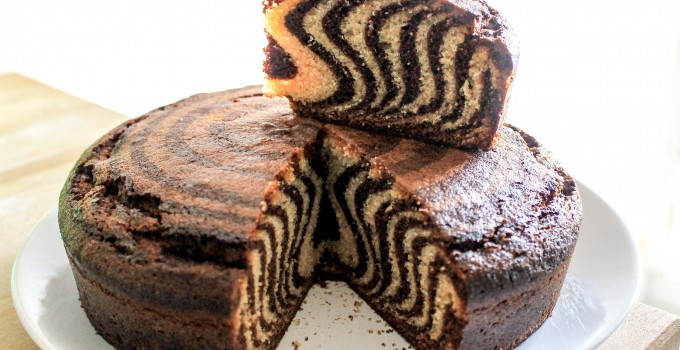 Gâteau zébré ou marbré de la savane