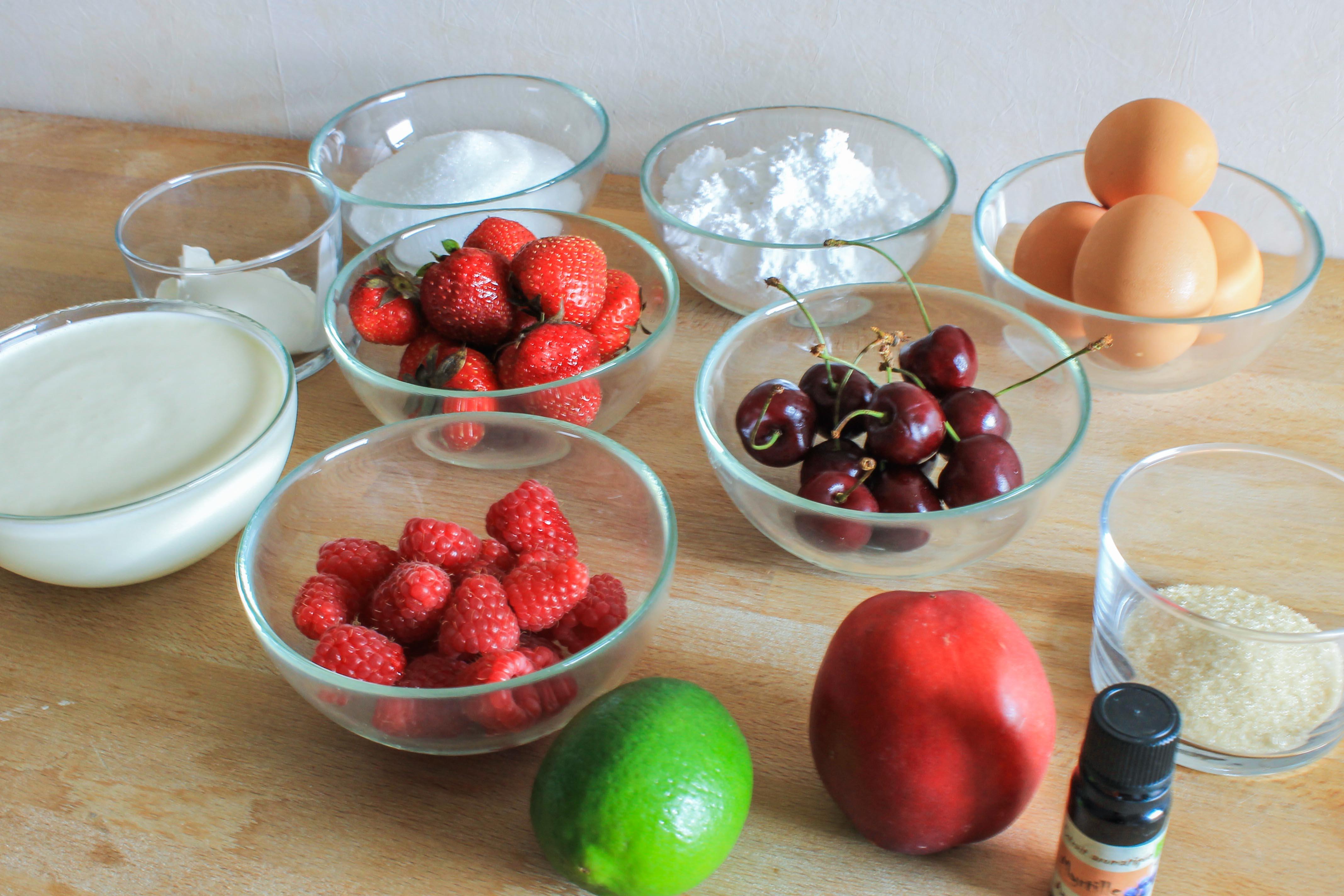 Pavlova aux fruits d'été