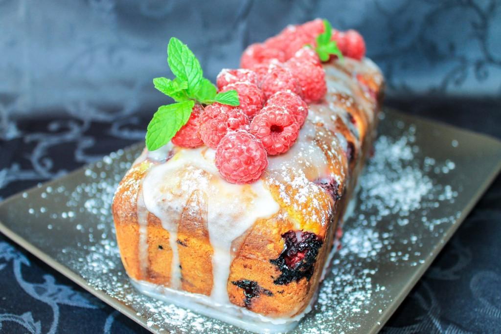 Cake aux framboises gourmand et acidulé