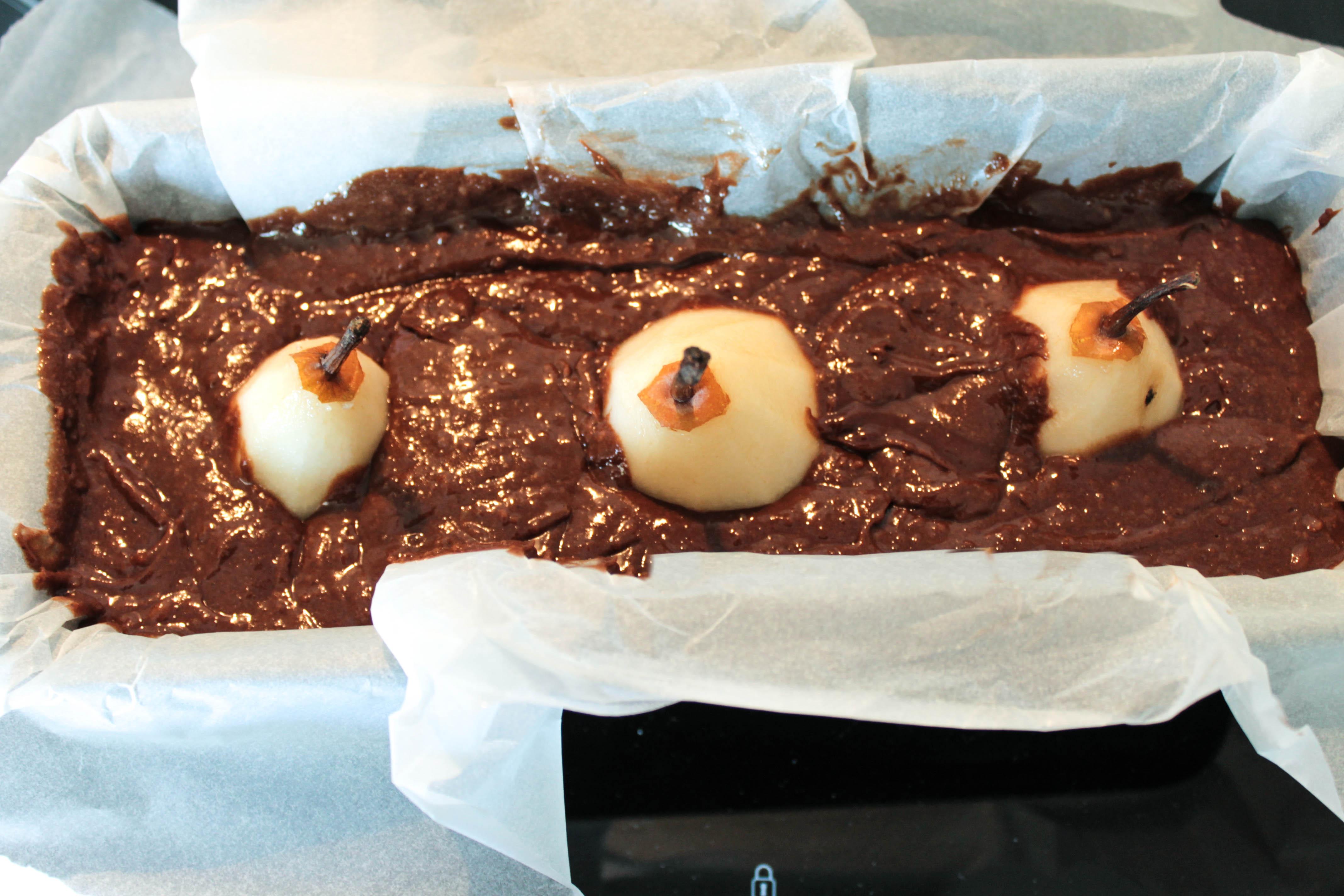 Gâteau au chocolat et aux poires