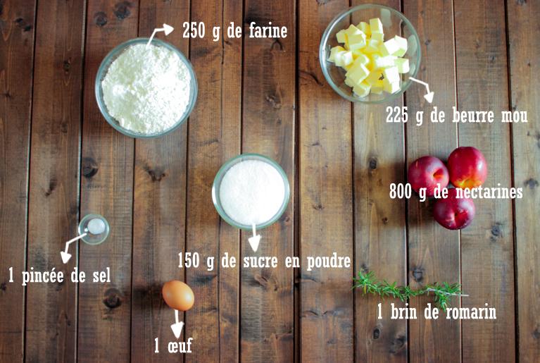 Tarte tatin nectarines et romarin