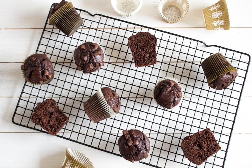 muffins très gourmands au chocolat