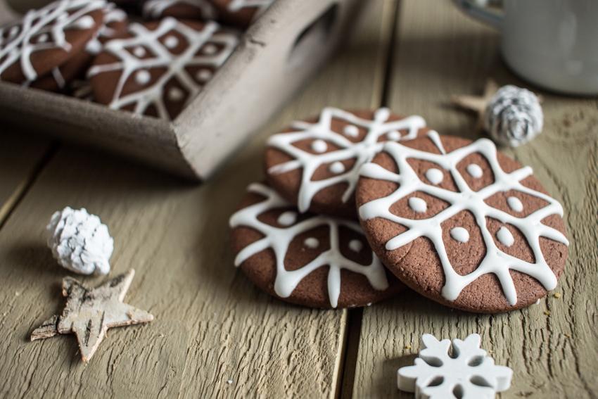 Petits sablés de Noël chocolat cannelle