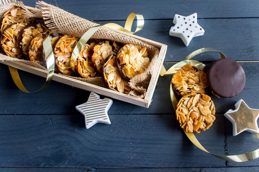Florentins aux amandes effilées et écorces d'orange