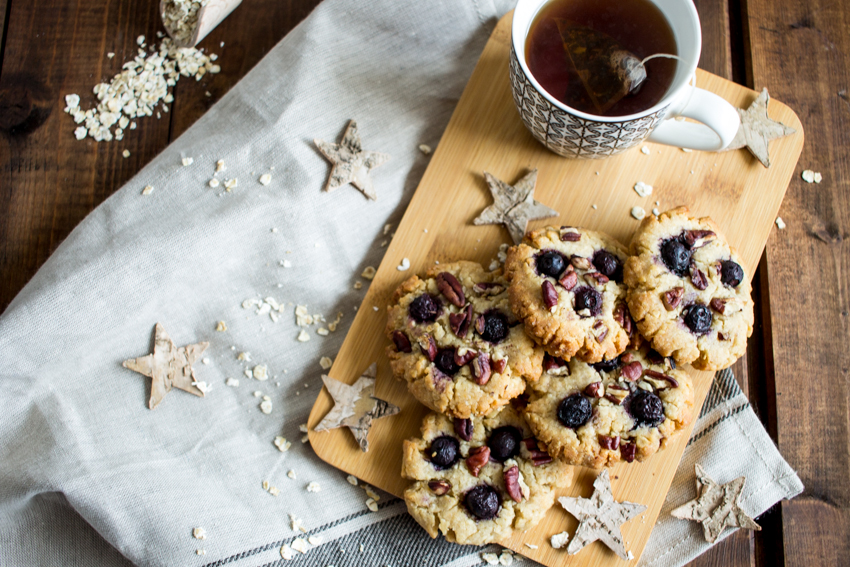 cookies vegan aux myrtilles