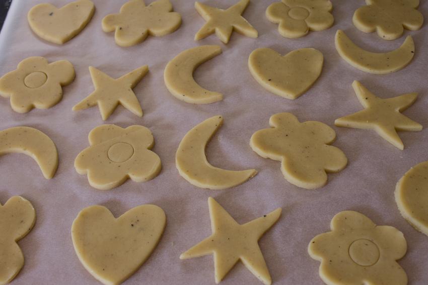 Petits sablés chocolat pistache tonka