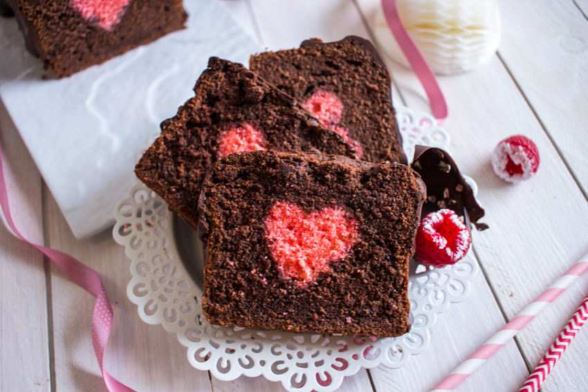 Cake surprise Saint Valentin