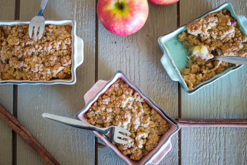 Crumbles pomme - banane - cannelle