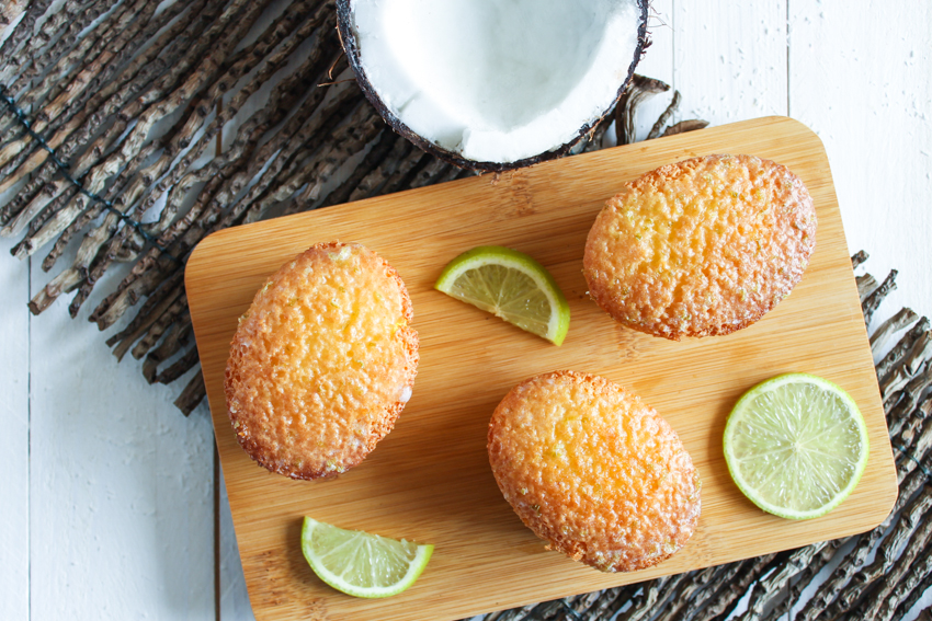 Petits cakes coco citron vert sans gluten [Christophe Michalak]