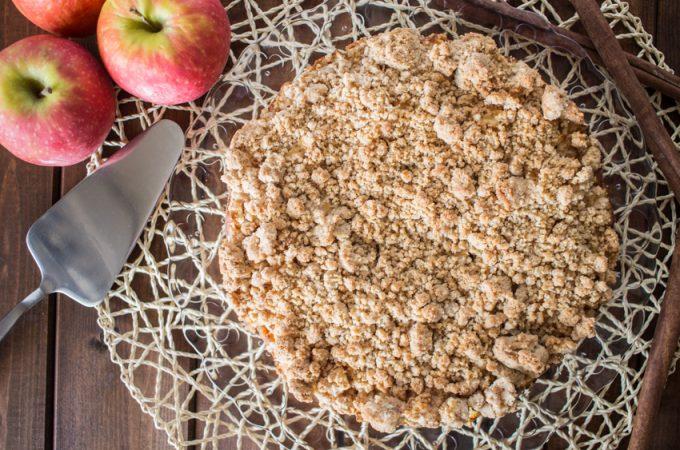 crumb cake aux pommes et à la cannelle