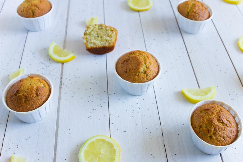 Muffins super moelleux au citron et graines de pavot