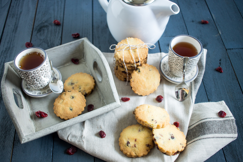 Cranberries shortbreads