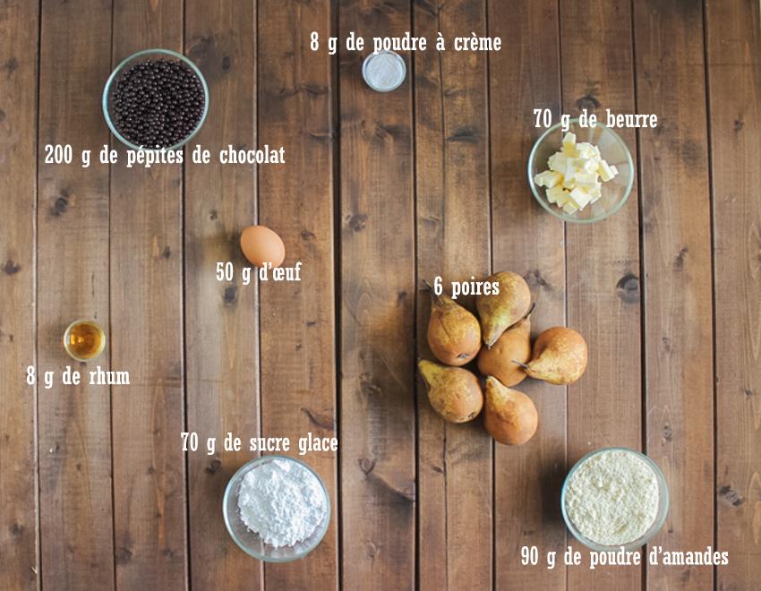 Tarte aux poires et p pites de chocolat de cyril lignac - Le robot cyril lignac ...