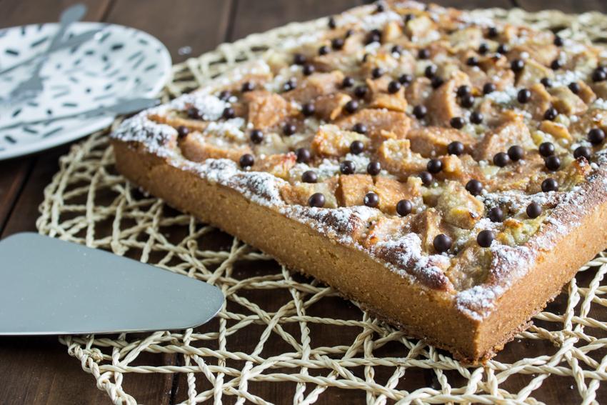 Tarte aux poires et pépites de chocolat de Cyril Lignac