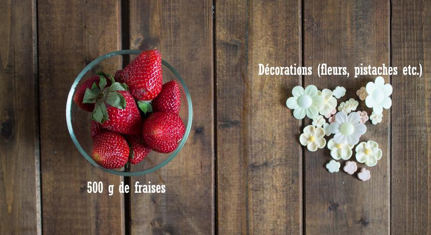 Tarte aux fraises ingrédients déco