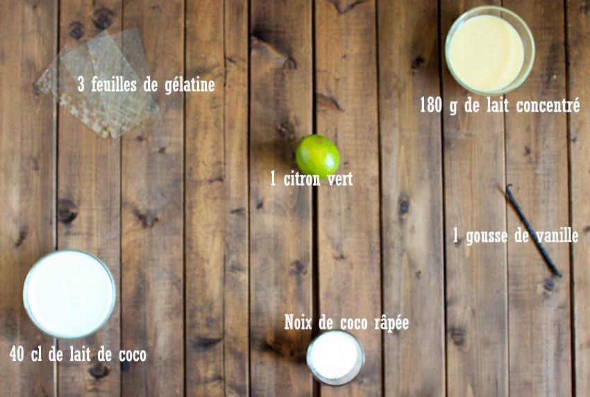 Blanc-manger coco citron vert
