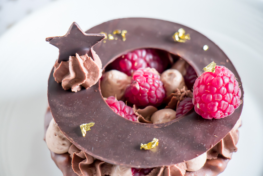desserts chocolat framboises