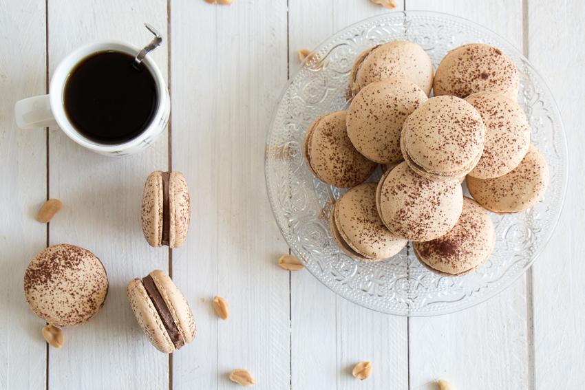 Macarons au beurre de cacahuète