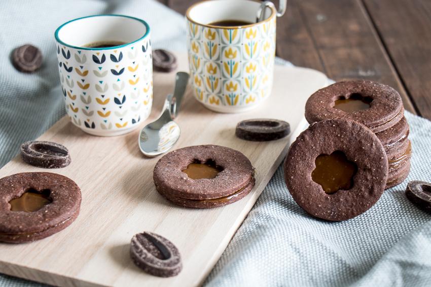 Biscuits chocolat dulce de leche