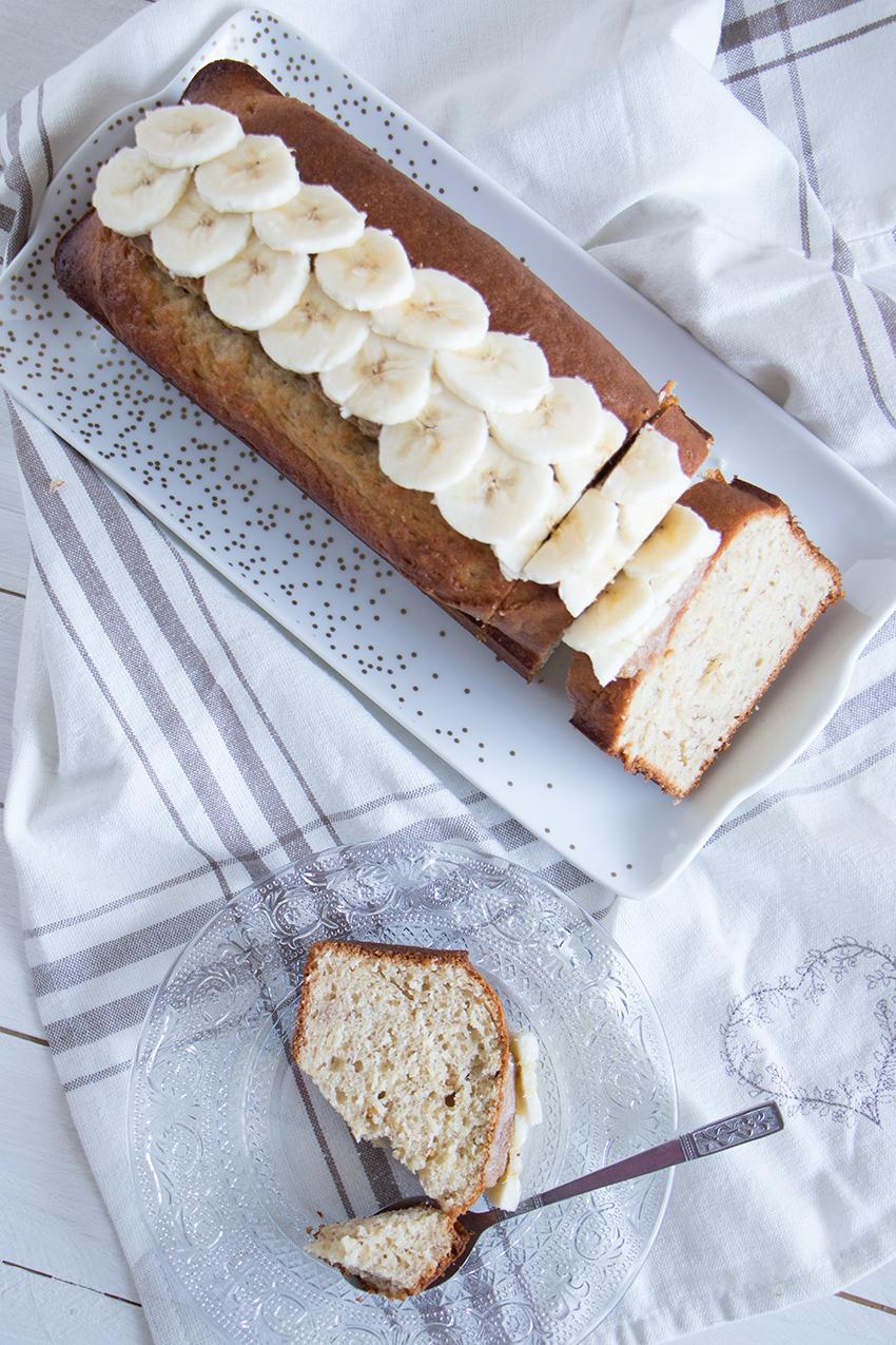 Gâteau au yaourt aux bananes et beurre de cacahuète