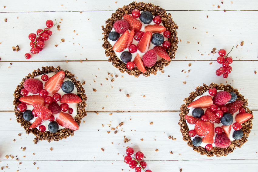 Tartelettes granola aux fruits rouges