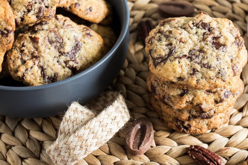 Cookies aux deux chocolats et noix de pécan