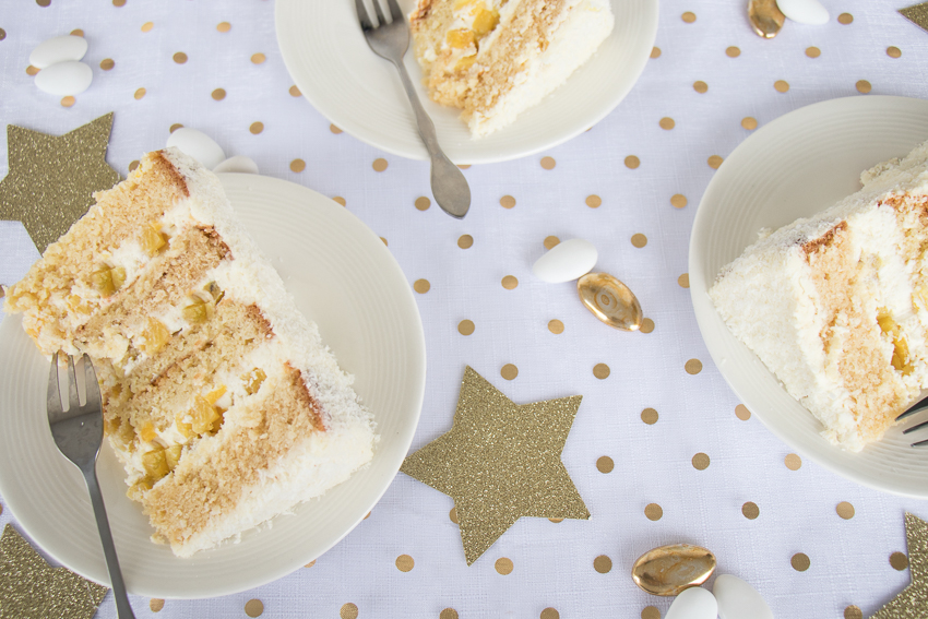 Gâteau exotique ananas coco