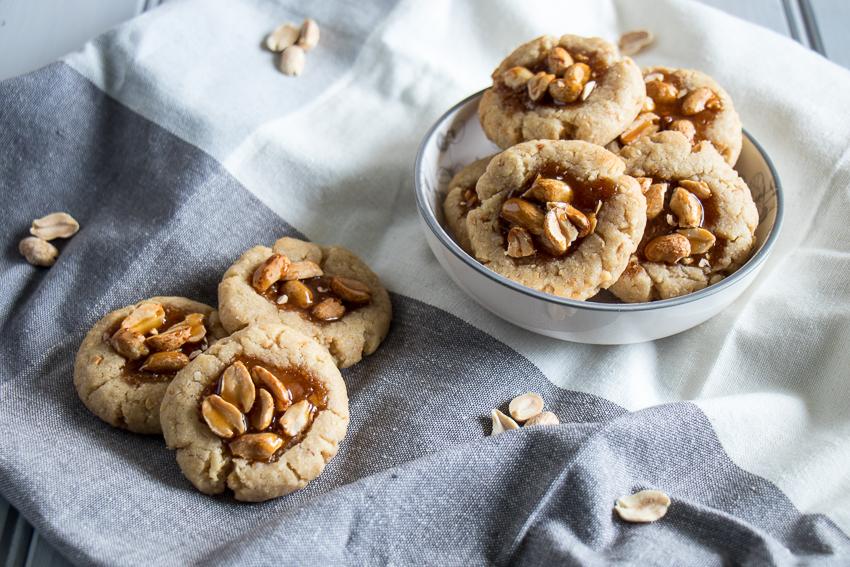 Biscuits aux cacahuètes caramélisées