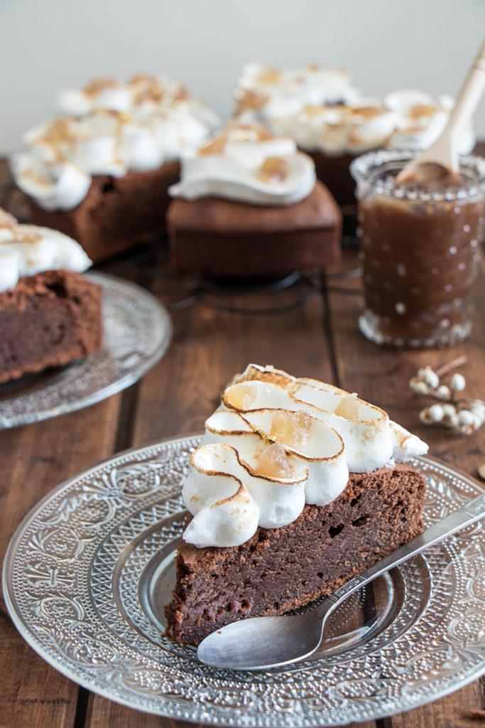 Gâteau choco-marron meringué