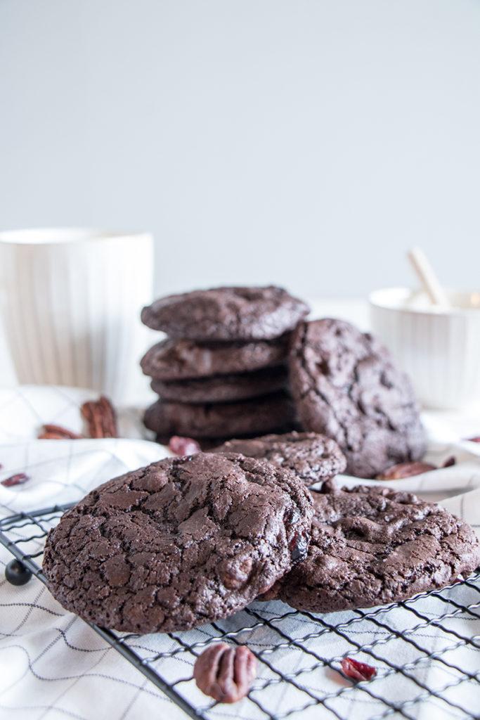 Cookies chocolat pécan cranberries