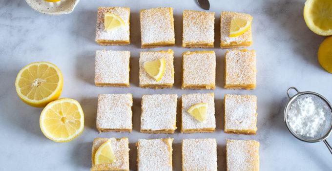 Carrés au citron ou la revisite de la tarte au citron