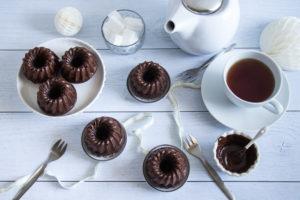 Mini bundt cakes au chocolat