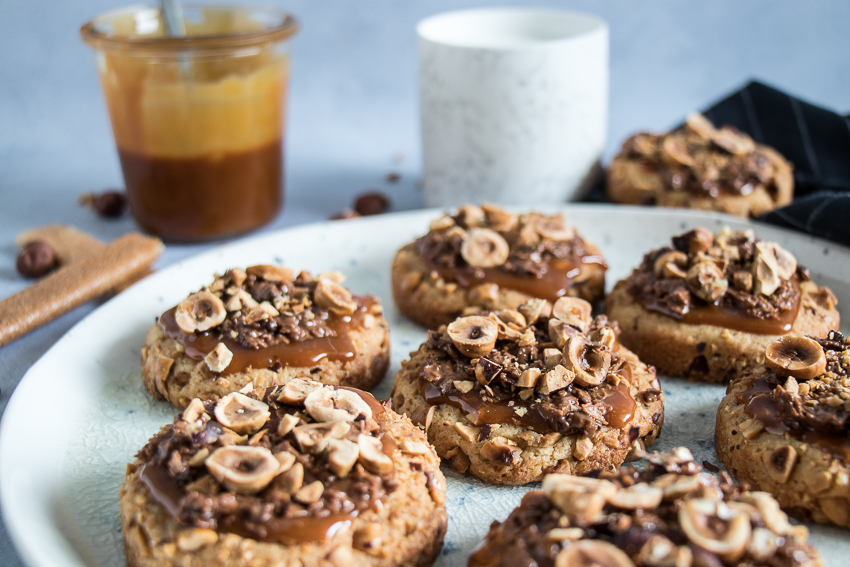 Cookies caramel feuillantine