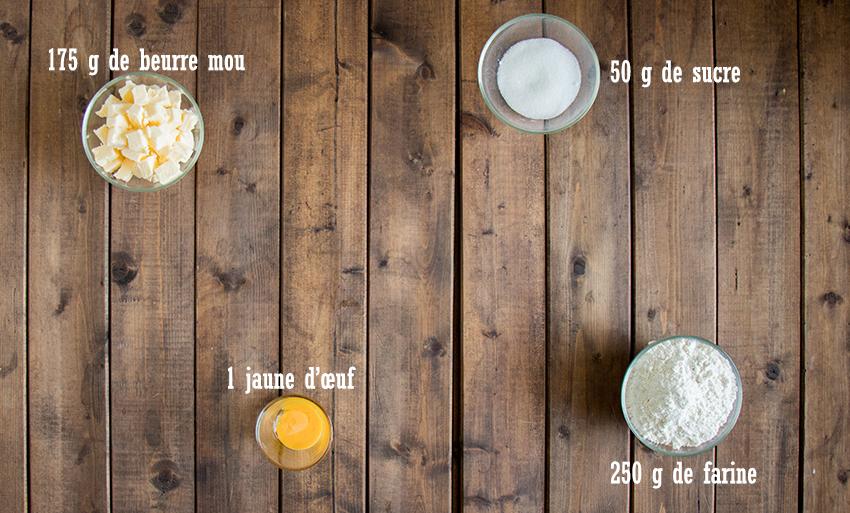 Ingrédients pâte tarte cerises amandes