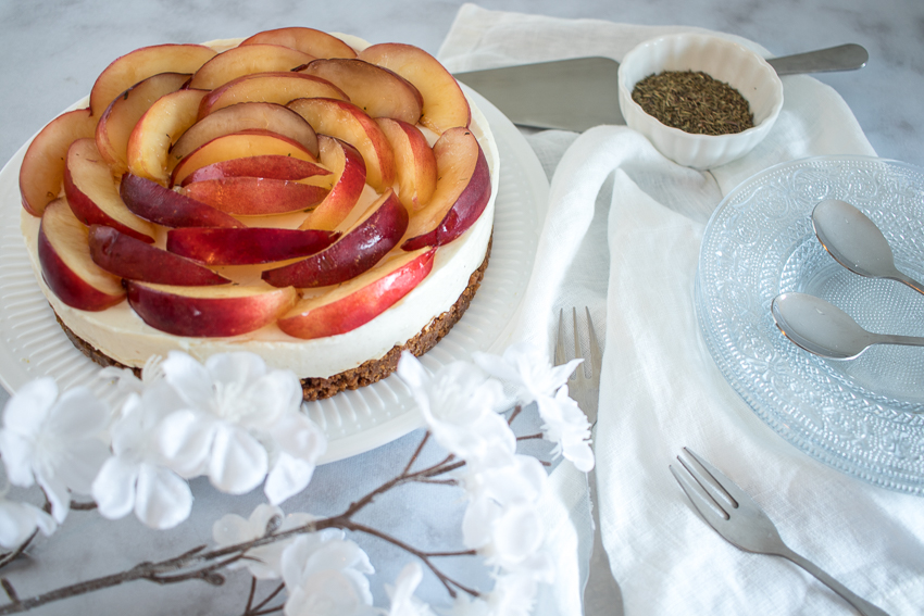 Cheesecake aux nectarines