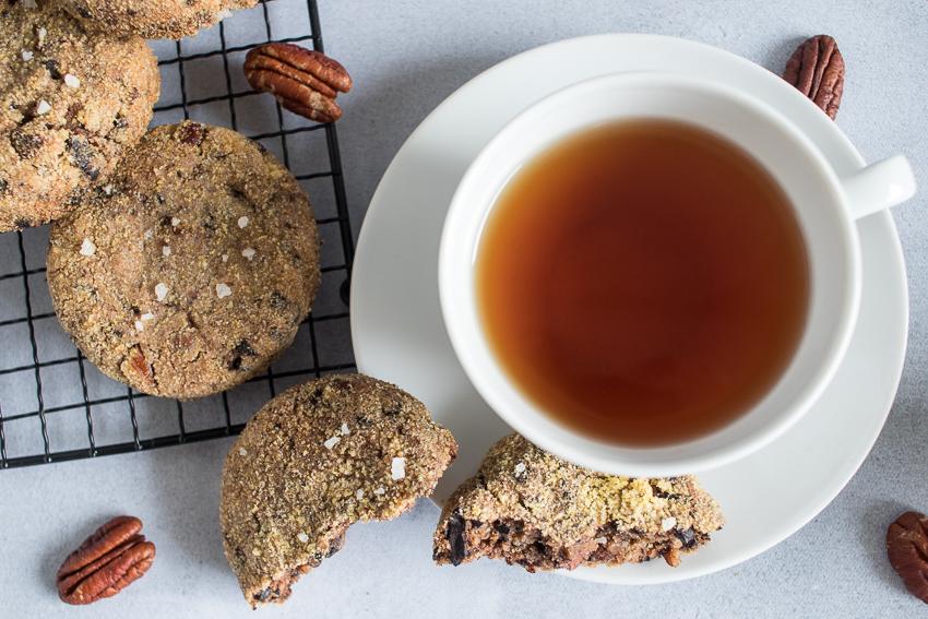 Cookies pécan polenta
