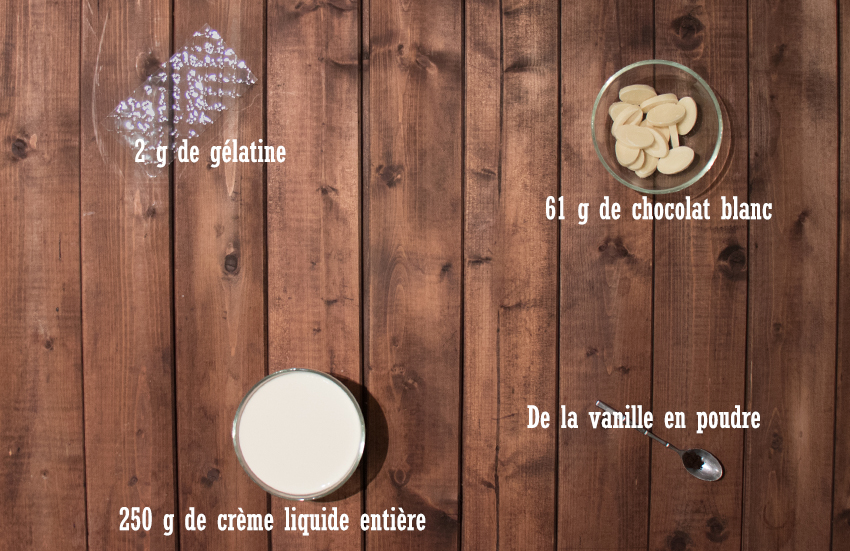 Tarte chocolat vanille et framboises - Ganache montée vanille