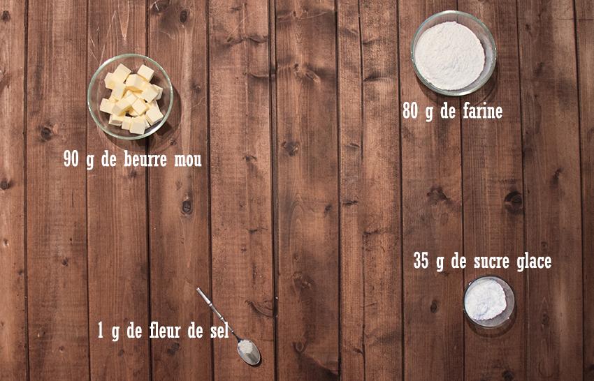Tarte chocolat vanille et framboises - Pâte sablée
