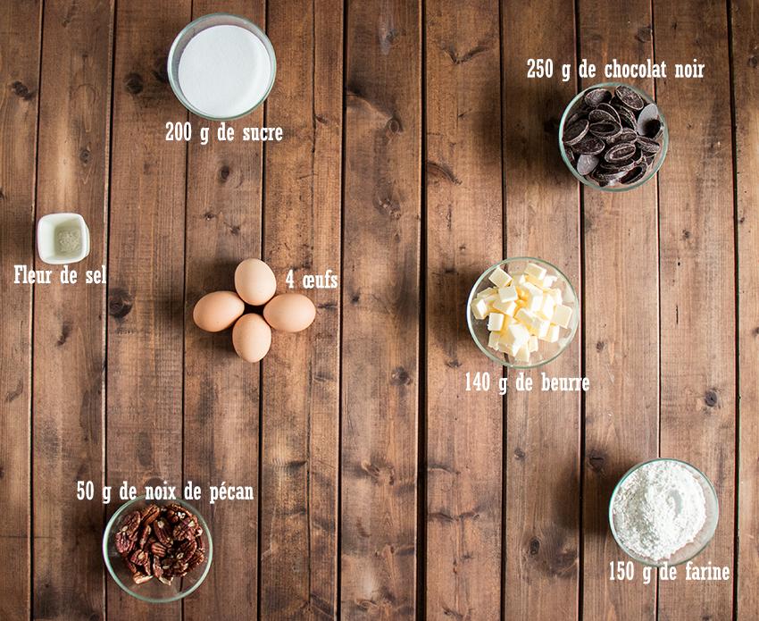 ingrédients brookie brownie
