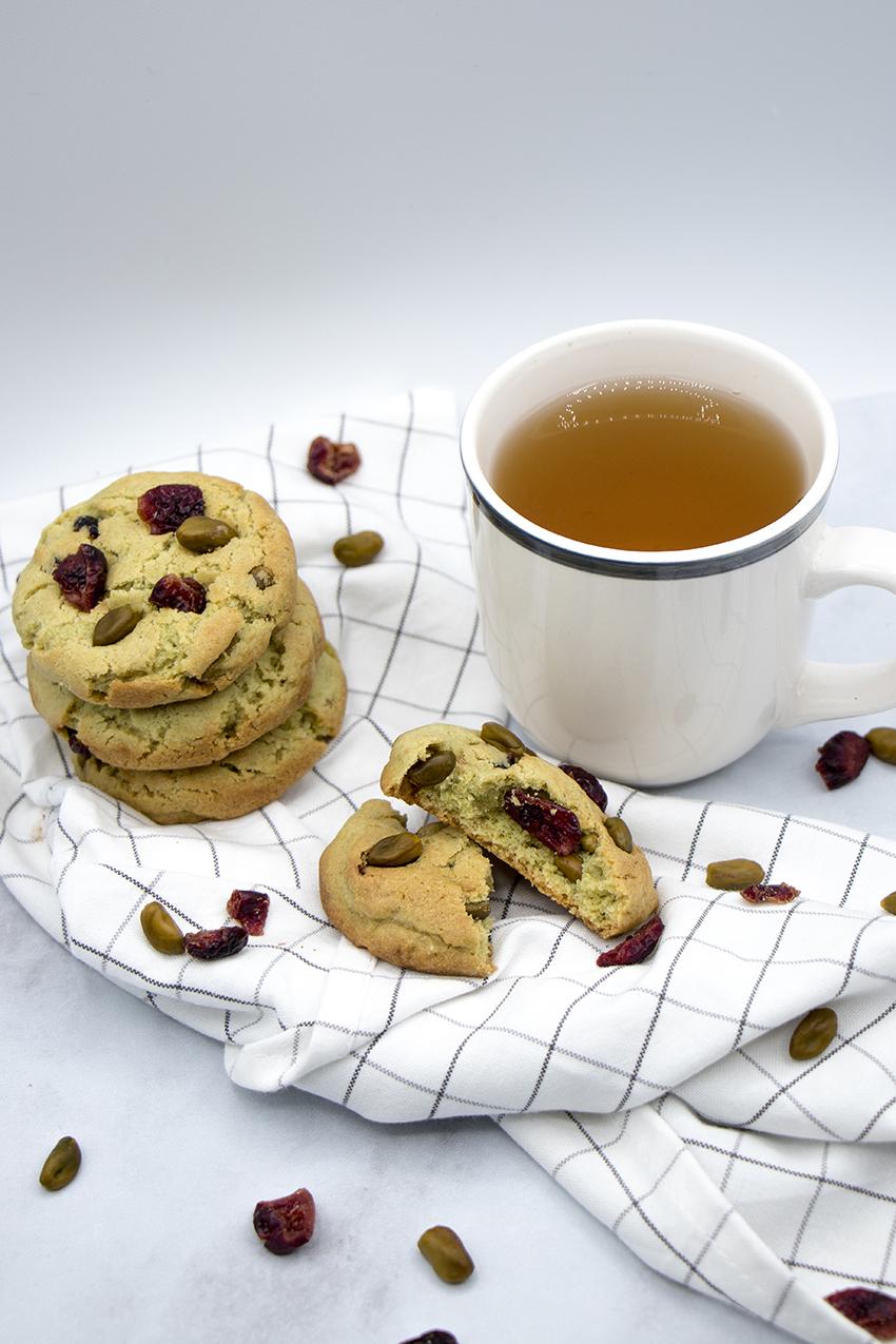Cookies pistaches et cranberries
