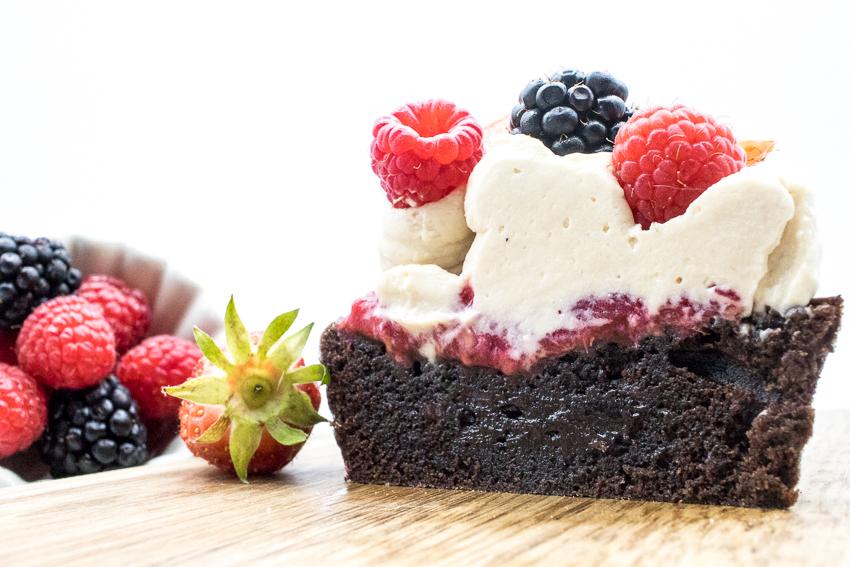 Brownie aux fruits rouges