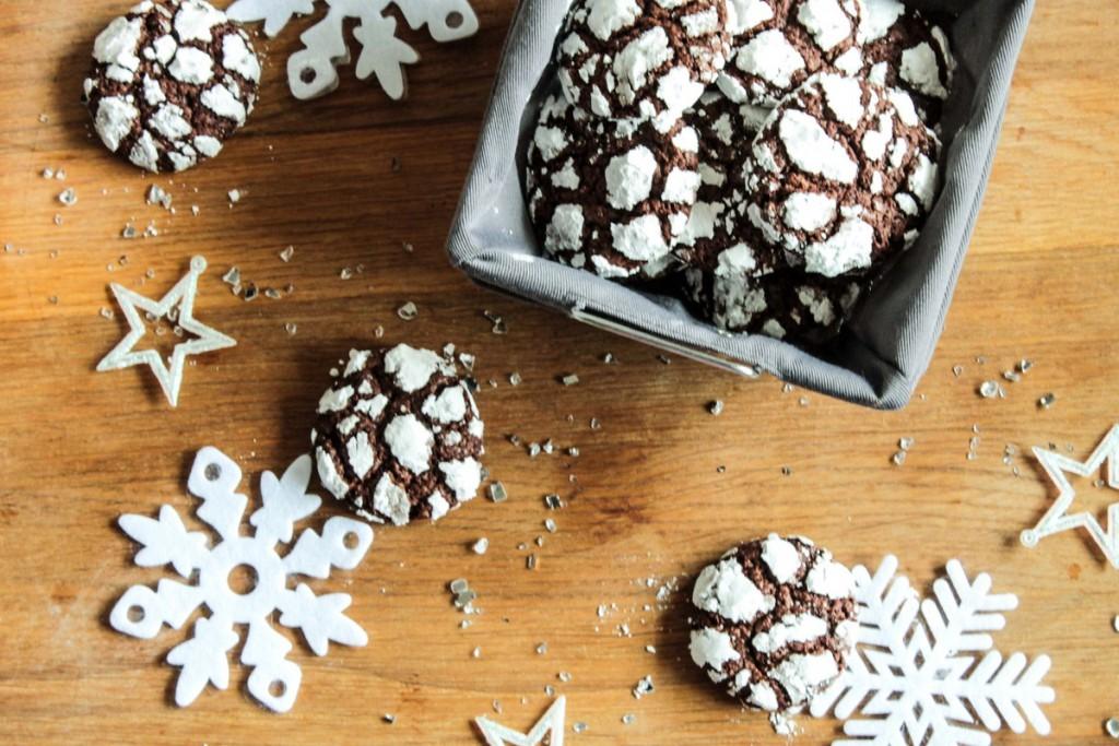 Biscuits craqueles au chocolat