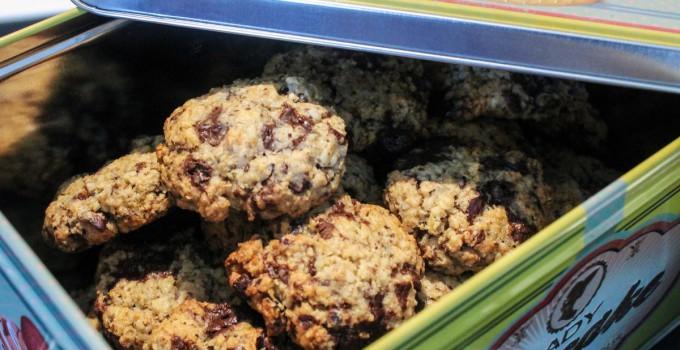 Cookies flocons d'avoine, chocolat et noisettes