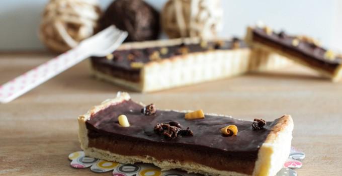 Tarte gourmande chocolat caramel au beurre salé