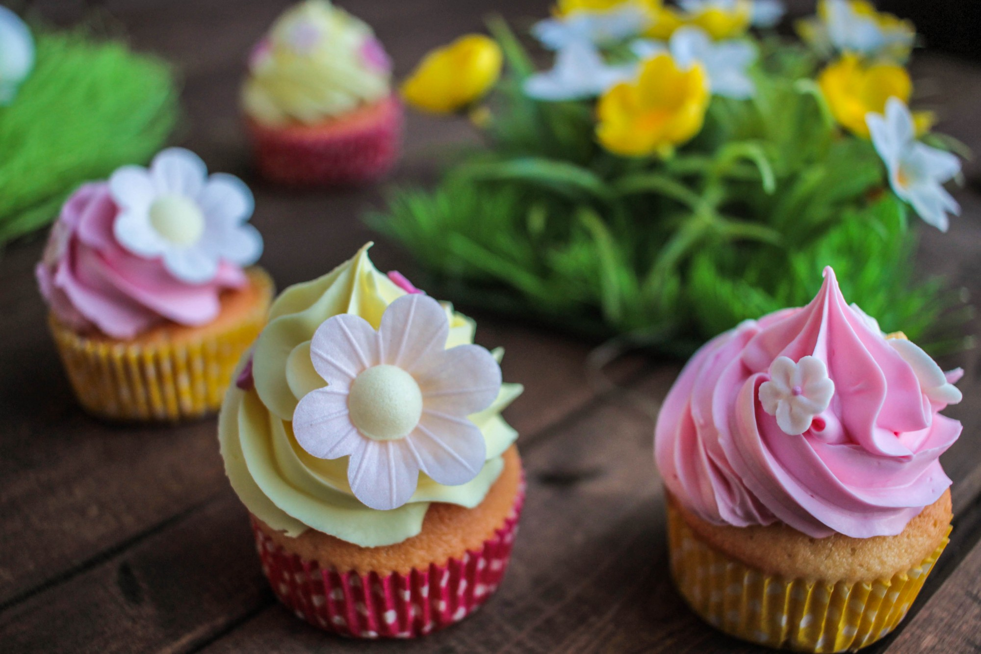 Cupcakes surprise à la fraise