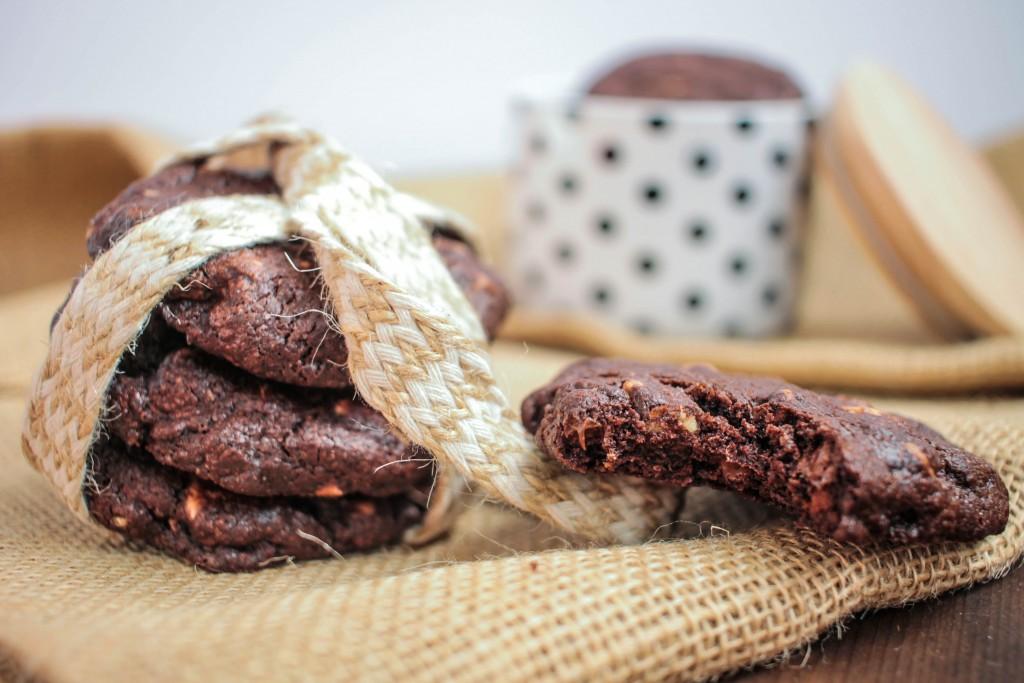 Cookies triplement chocolatés
