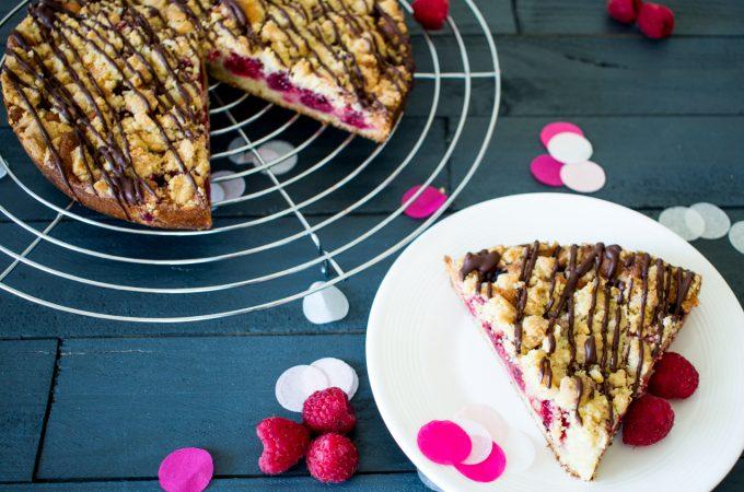 Crumb cake framboises chocolat